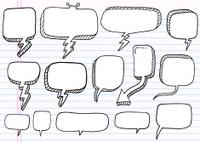Doodle Speech Bubble Set