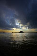overcast ocean