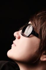 Woman With Sunglasses . Studio Shot