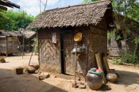 Tradtional Burmese cabin at Ma Au, Myanmar