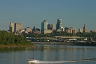 Skyline Kansas City: Kaw River meets the Missouri