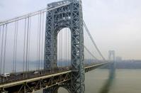 George Washington Bridge in the fog