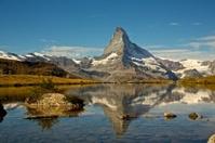 Beautiful Matterhorn view from Stellisee