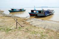 Traditional Burmese boats (Irrawaddy river, Myanmar)