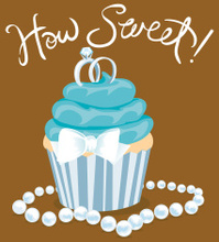 Whimsical Wedding Cupcake
