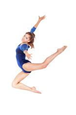 beautiful gymnast jumping
