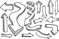 Doodle Arrow Vector Set