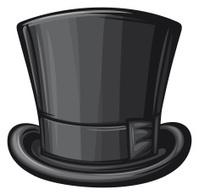 black gentleman top hat
