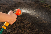 Watering the ground