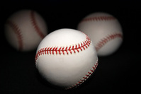 Light Painted Baseballs