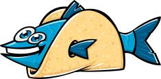 cartoon fish taco