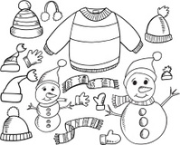 Doodle Winter Set