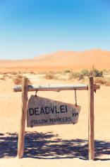 Deadvlei Sign, Namibia