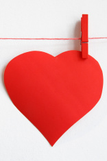 red heart on line