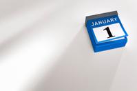Desk calendar new year 2015 January 1st