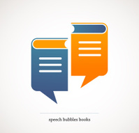 book talks - vector concept design with speech bubbles