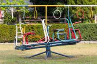 Children carousel in playground