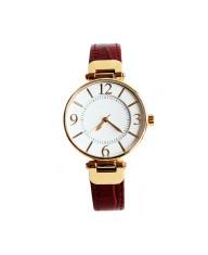 golden watches on white background