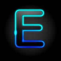 Glowing Font - E