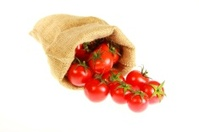 Jute bag fill of tomatoe