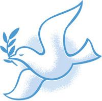 vintage style peace dove