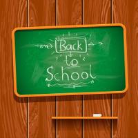 Back to school, chalkwriting on blackboard