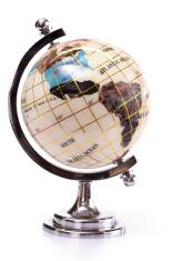 Globe isolated on white
