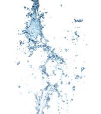 The splash splashing