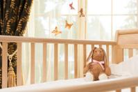 Bunny in crib