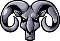 metallic rams head