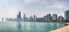 Chicago on Misty Day