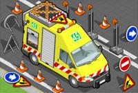 isometric roadside assistance truck