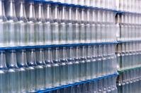 Stacked glass bottles