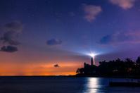 Lighthouse on a starry night