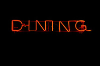 Dining as neon light