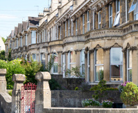 Stone built terraced houses in Bath