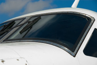 Airplane Windscreen From Side - Horizontal