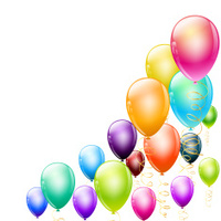 background corner made of colorful balloons