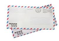 Two airmail envelopes