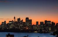 Sydney harbour sunset