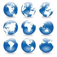Gel World Globes ( vector & jpg )