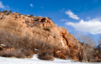 Utah rock formation in winter