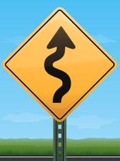 Wavy Road Sign