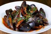 spaghetti and mussel