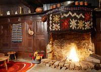Traditional Bulgarian fireplace