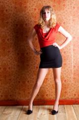 Blonde In A Mini Dress