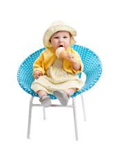 little baby girl eating ice cream