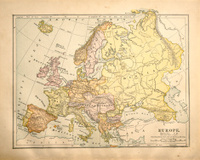 Victorian Vintage Map of Europe