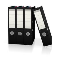 Black file folders