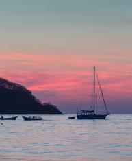 costa rica coast sunset
